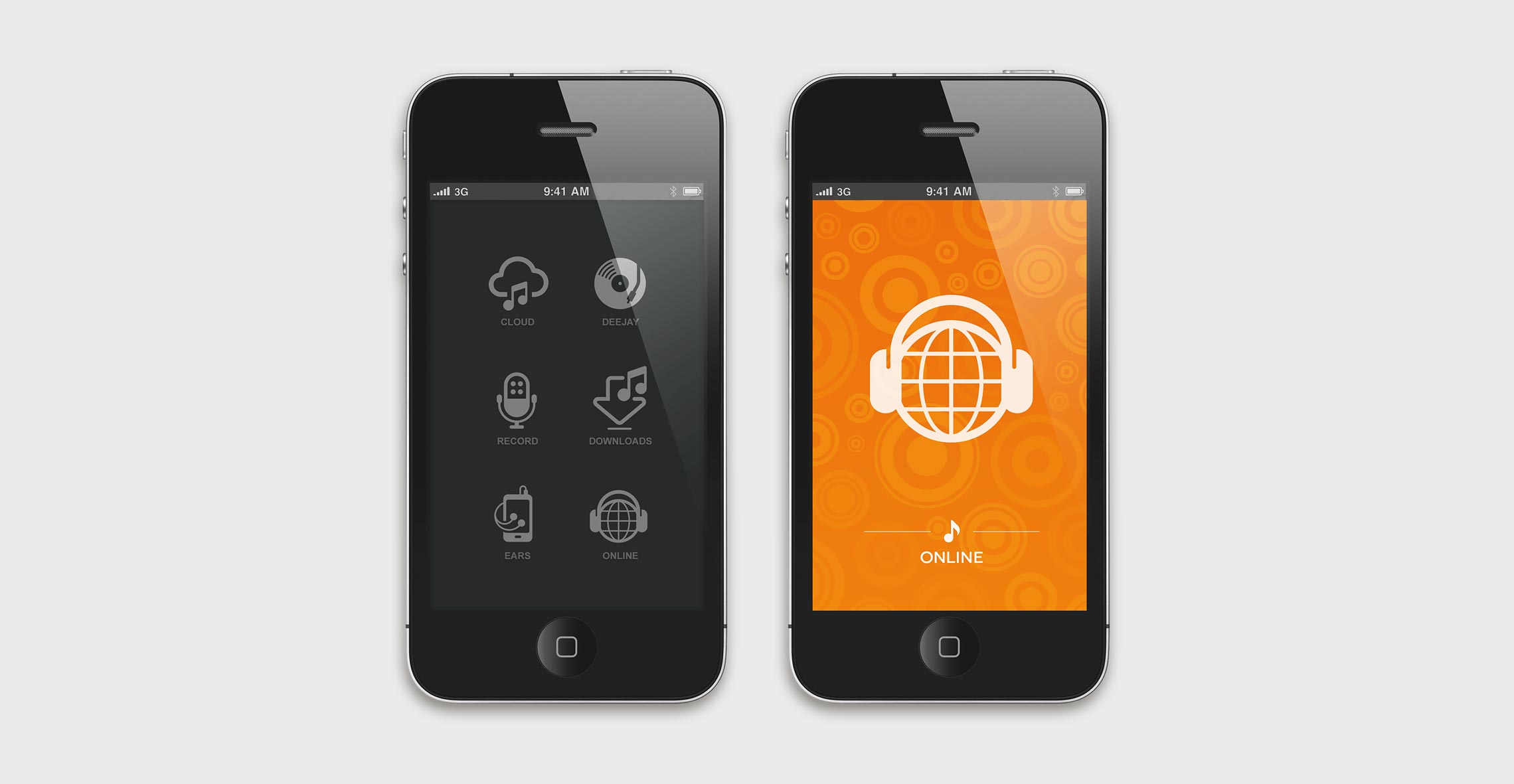 music icons mobile interface iphone audio