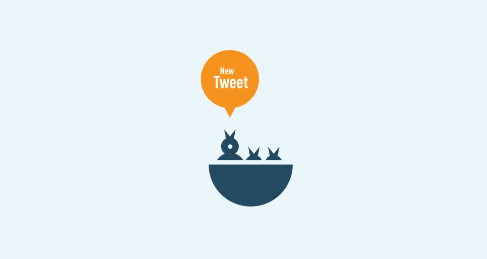 creative icon design for twitter and social media with birds nest