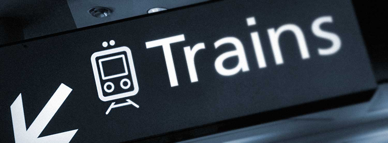 train sign pictogram design