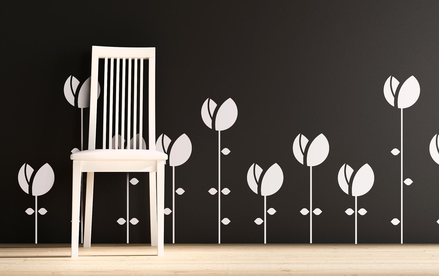 vinyl wall decals flower design