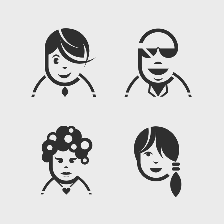 avatars-pictographic-illustrated-vector-designs