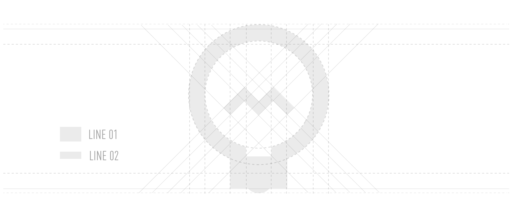 design grid with light bulb icon design