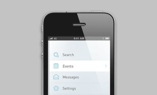outline interface icons for mobile app
