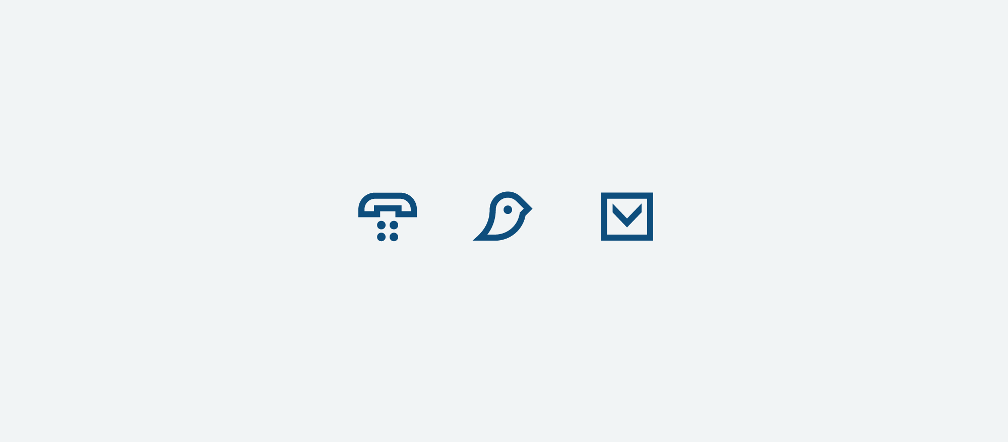 small contact and email icons