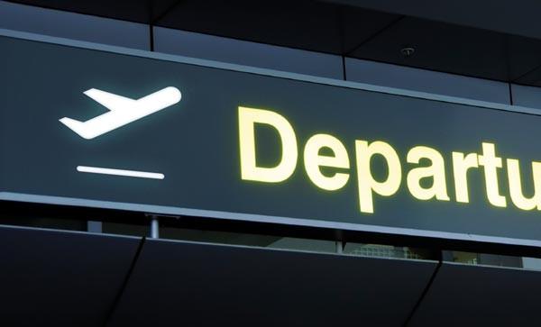 Airport signage