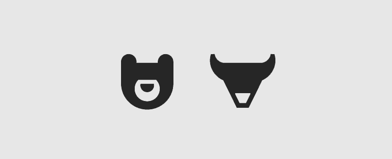 bear bull icon design stock exchange