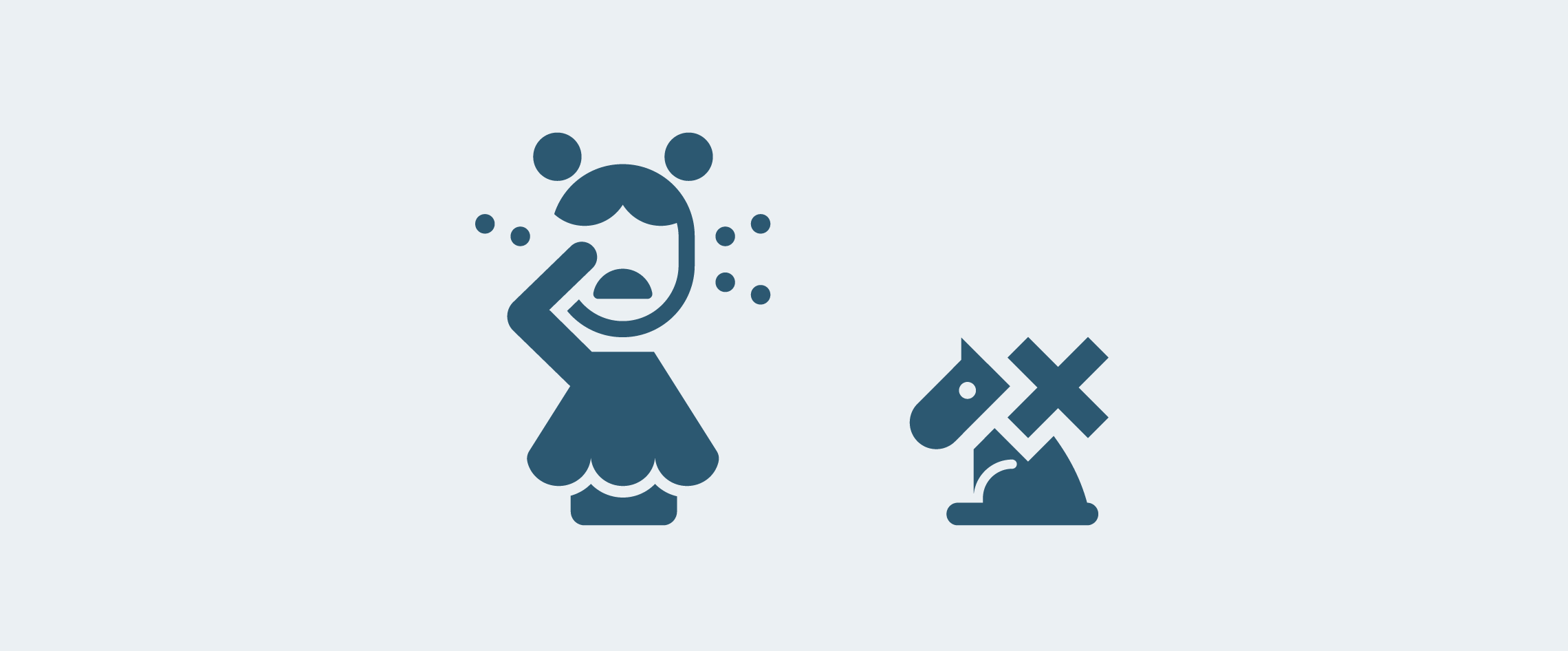 icon design of crying child with dogs not allowed symbol