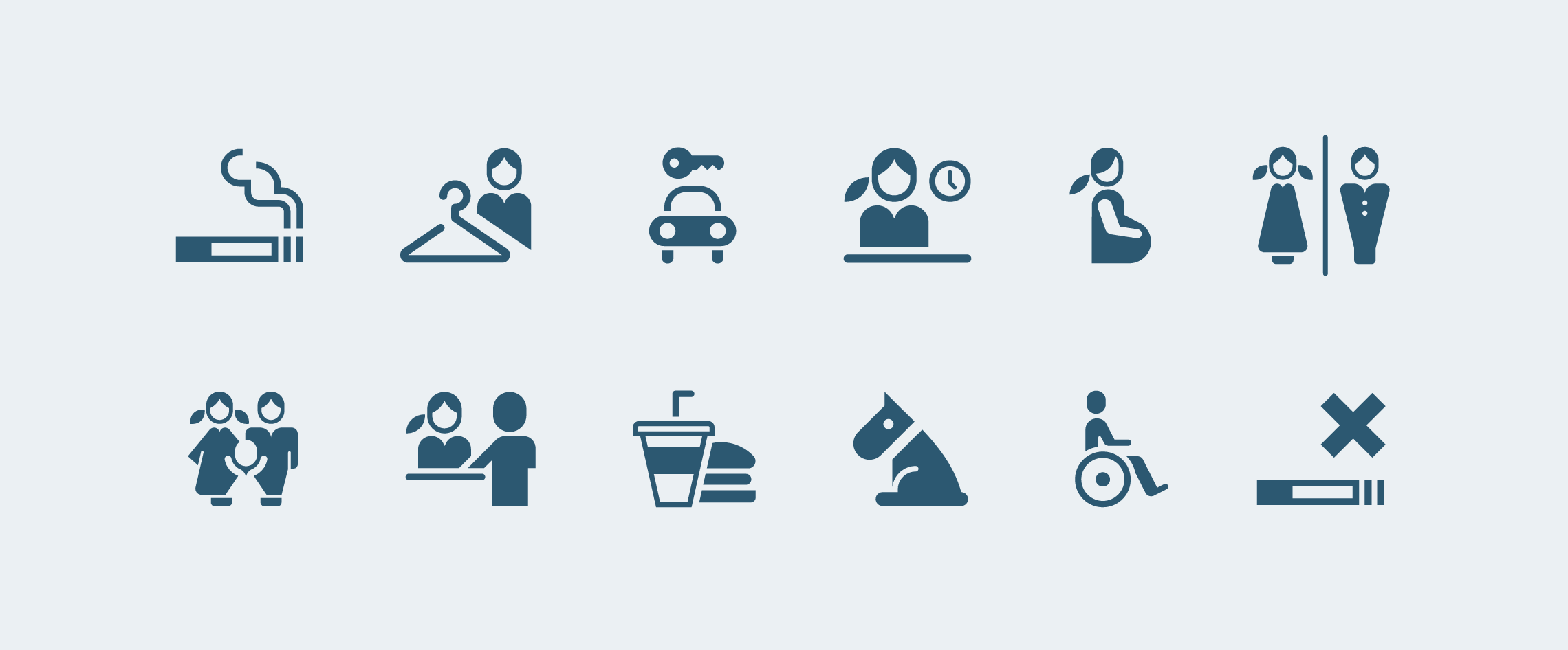 vector icons of universal icons for public buildings