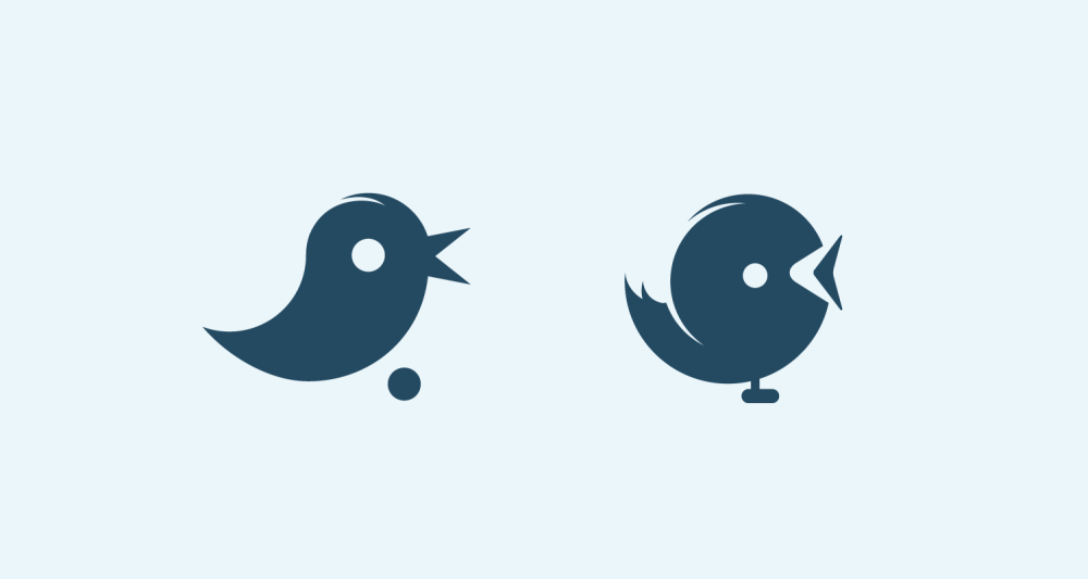 stylish twitter icons designed in blue color