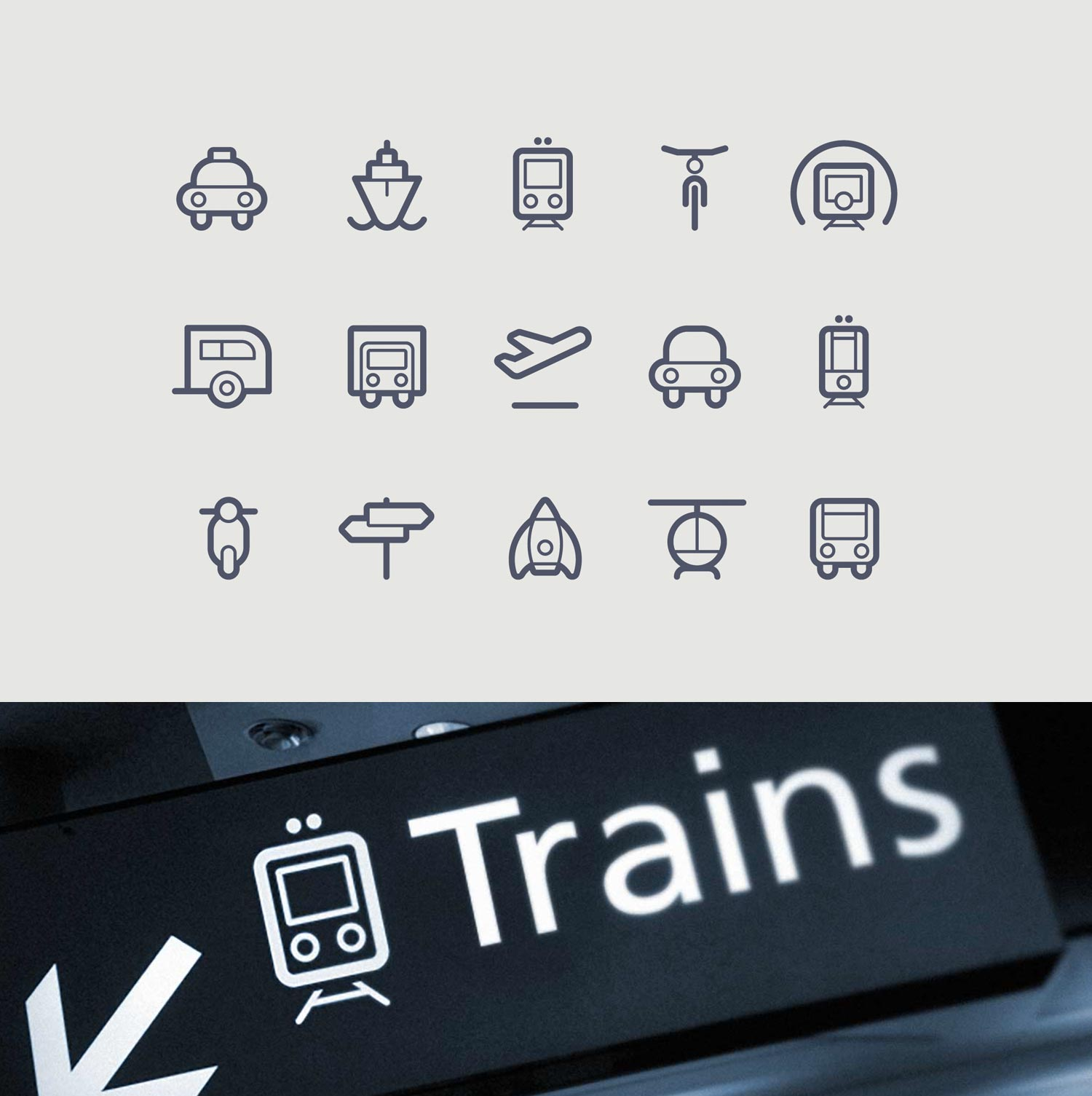 transportation-vehicle-icons-outlined-design
