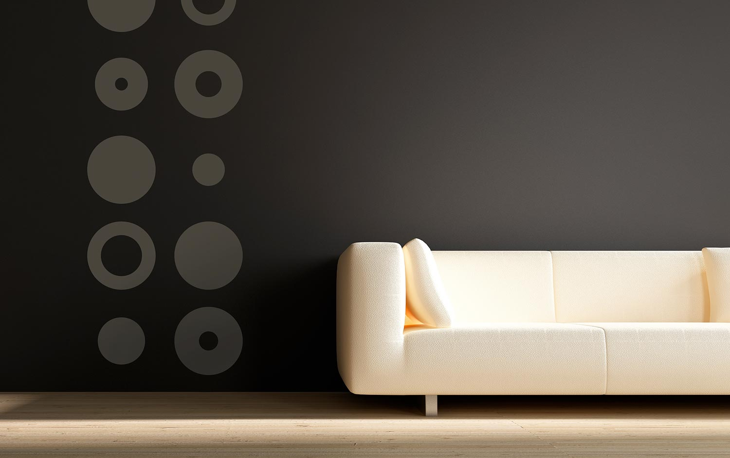 vinyl wall decal graphics circles retro pattern