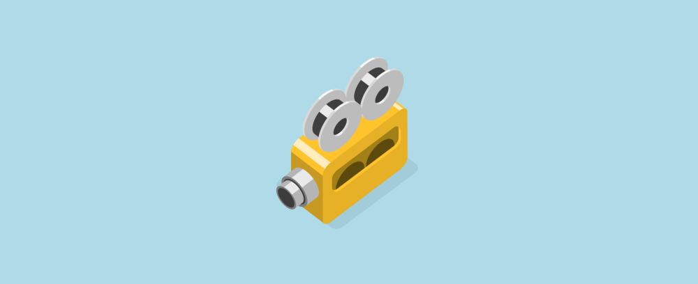 3d isometric home video camera icon in flat illustration design