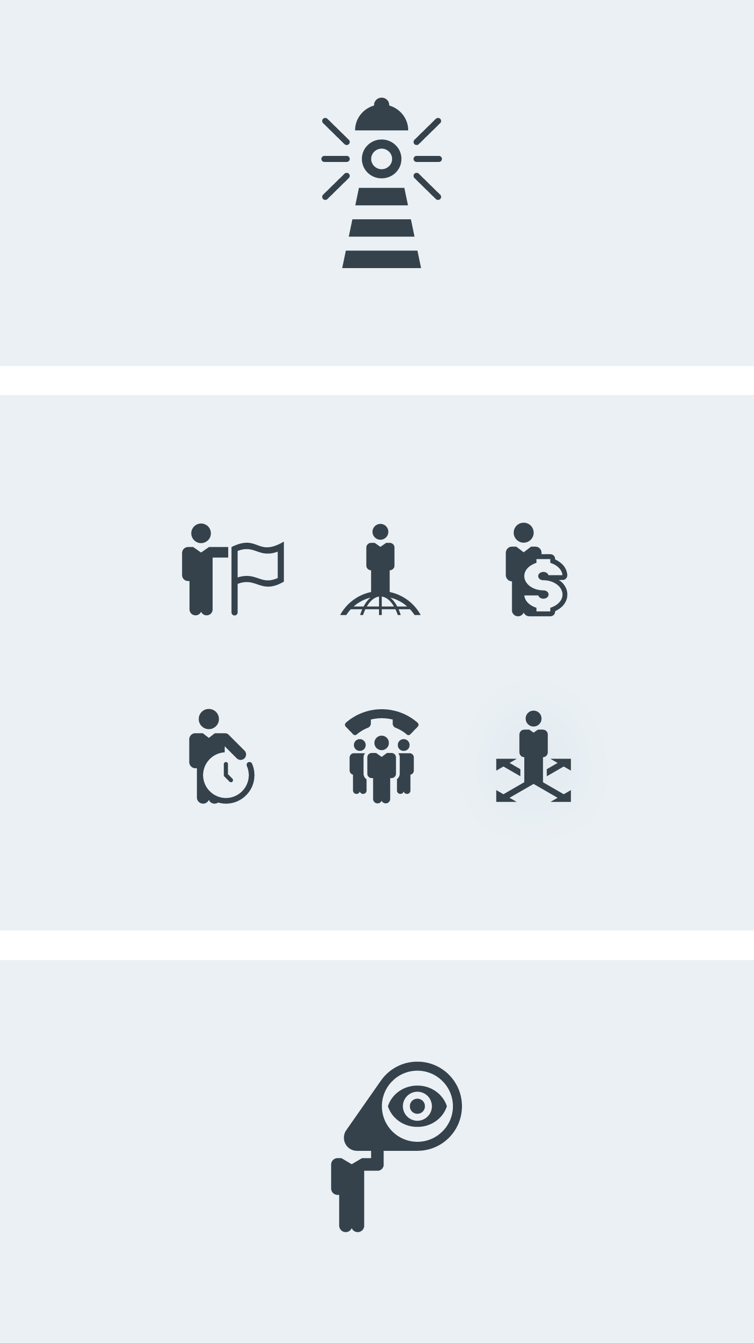business-people-metaphors-icons-vector