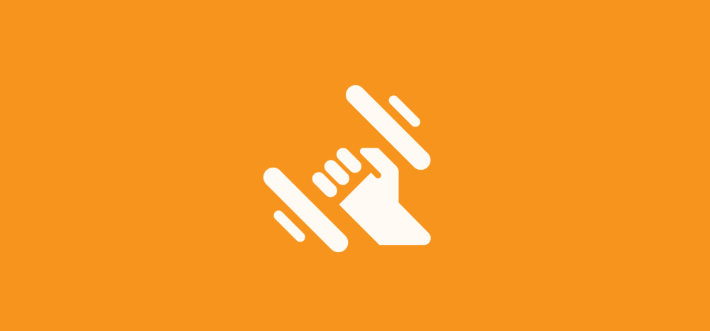 fitness exercise icon showing hand with dumbbell