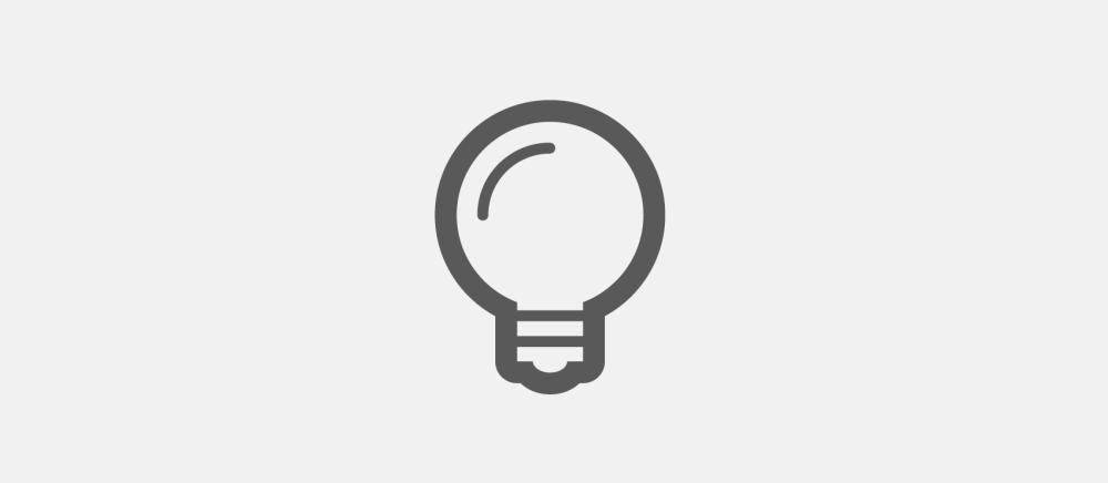 vlack light bulb icon in outlined design