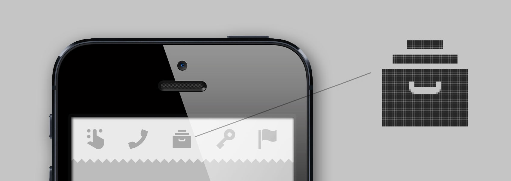 pixel perfect icon design for mobile devices for sharp display