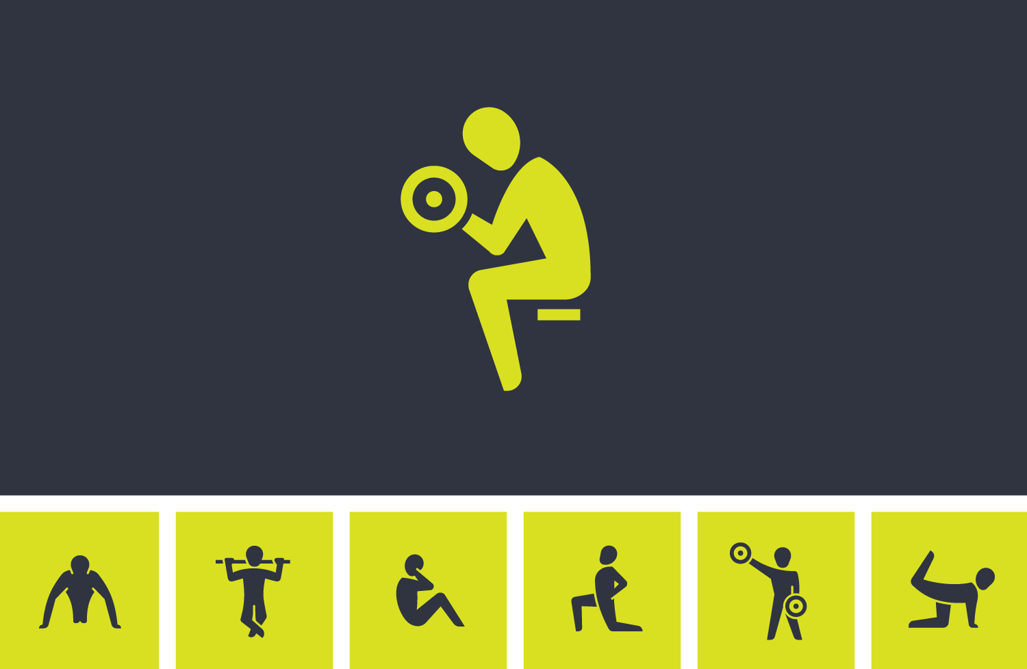 set-fitness-exercise-icons-vector-design