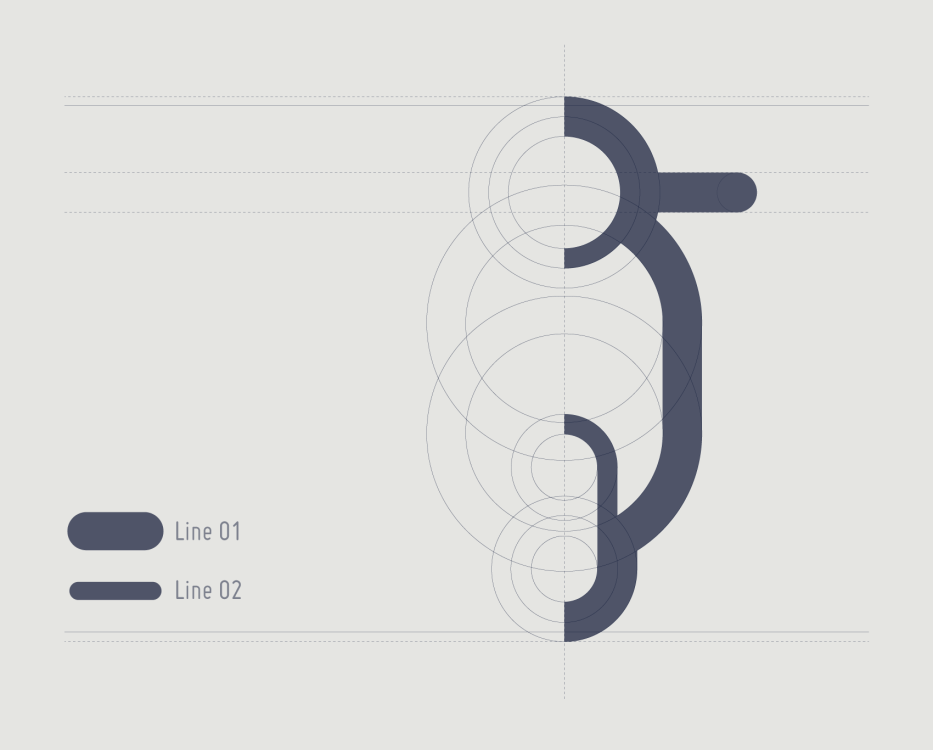 design grid for consistent pictogram series with a vespa icon as example